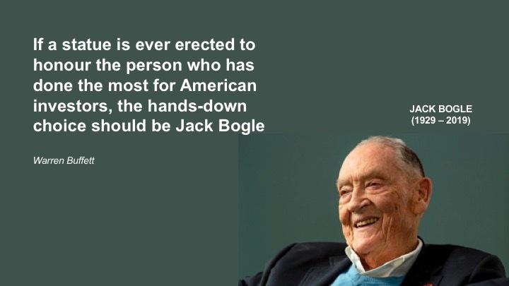 Warren Buffett pays the ultimate homage to Jack Bogle